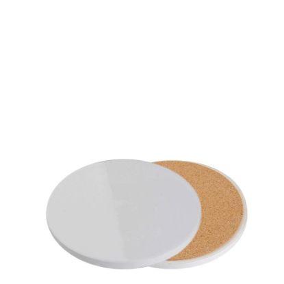 Picture of COASTER (SANDSTONE+cork) ROUND 10.8 gloss