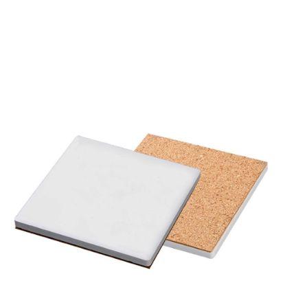 Picture of COASTER (SANDSTONE+cork) SQ. 10.8 gloss