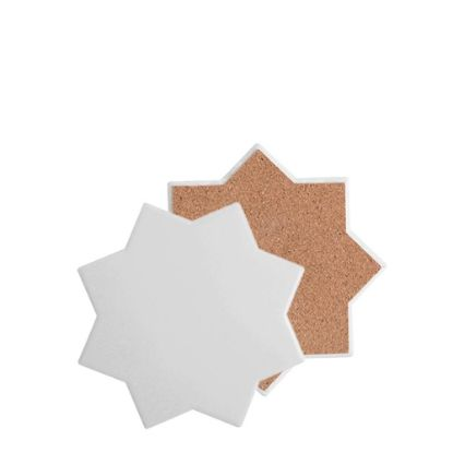 Picture of COASTER (SANDSTONE+cork) OCTAGON 10.8 gloss