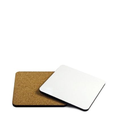 Picture of COASTER (ALUMINUM) SQUARE 9.5x9.5 with CORK