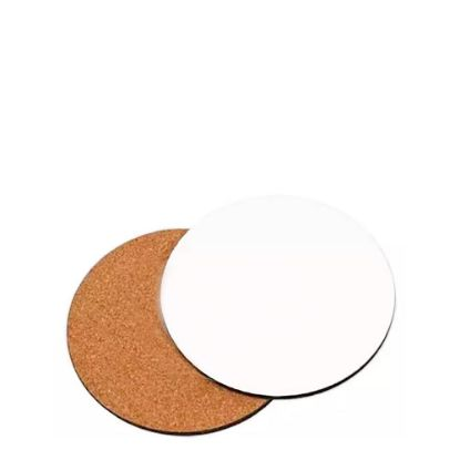 Picture of COASTER (HB) ROUND  9.52cm - with CORK