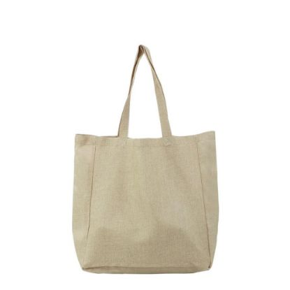 Picture of BAG - SHOPPING (BURLAP) side gusset 48x38