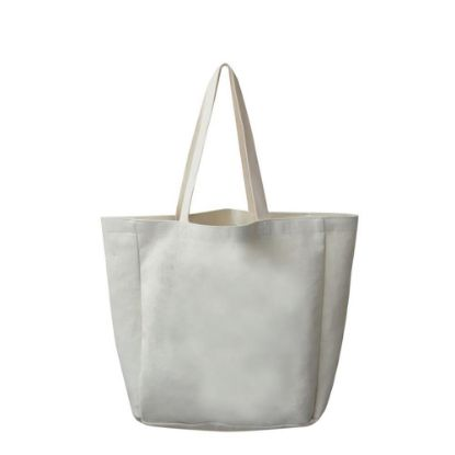 Picture of BAG - SHOPPING (LINEN) side gusset 48x38x13cm