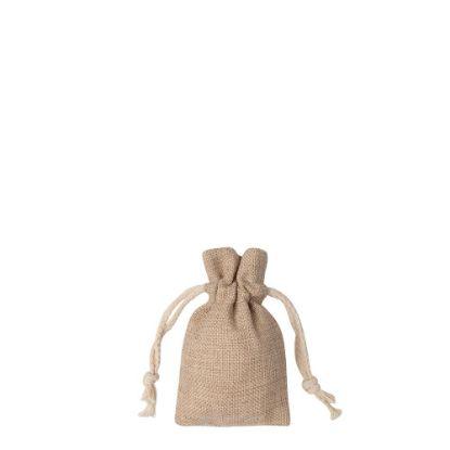 Picture of DRAWSTRING BAG faux burlap  9x14cm