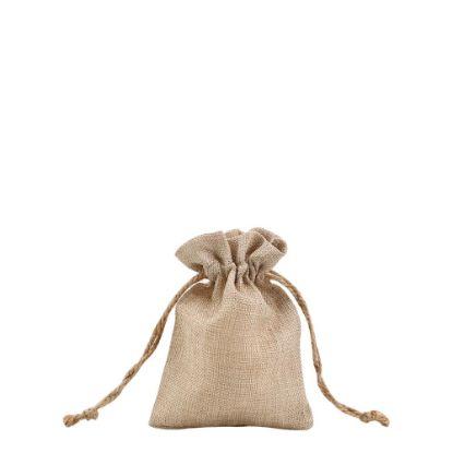 Picture of DRAWSTRING BAG faux burlap 12x17cm