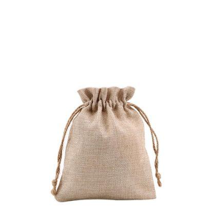 Picture of DRAWSTRING BAG faux burlap 17x21cm