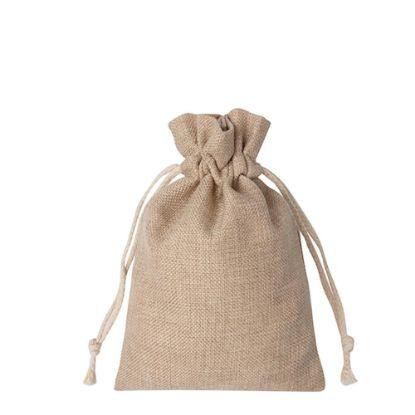 Picture of DRAWSTRING BAG faux burlap 35x38cm