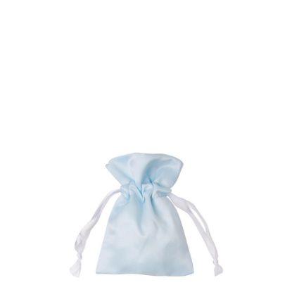 Picture of DRAWSTRING BAG satin blue light  9x14cm