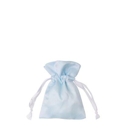 Picture of DRAWSTRING BAG satin blue light 12x17cm