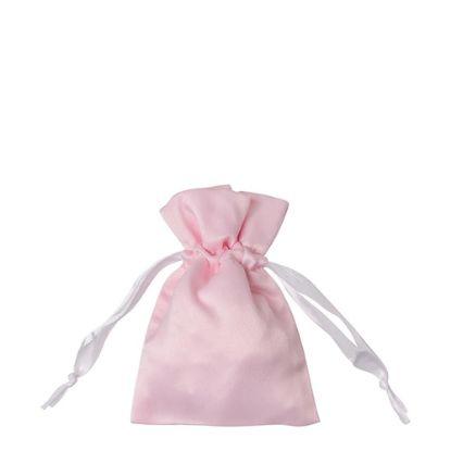 Picture of DRAWSTRING BAG satin pink 16x23cm