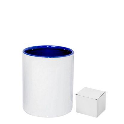 Picture of PENCIL HOLDER - CERAMIC/11oz-BLUE      (+box)