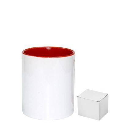 Picture of PENCIL HOLDER - CERAMIC/11oz-RED       (+box)