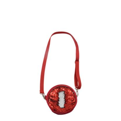 Picture of ROUND BAG sequin (RED)  13x13
