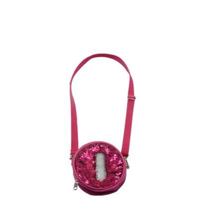 Picture of ROUND BAG sequin (ROSE)  13x13