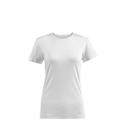 Εικόνα της Polyester T-Shirt (WOMEN XLarge) WHITE 145gr Cotton Feeling