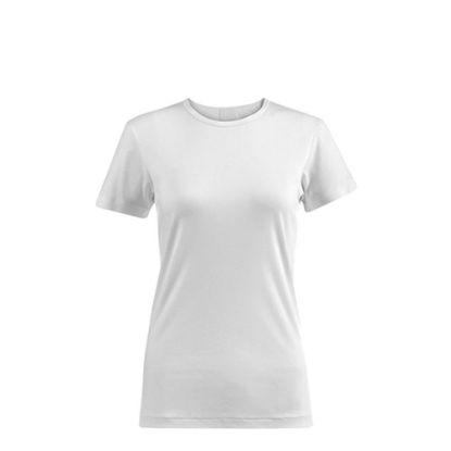 Εικόνα της Polyester T-Shirt (WOMEN 2XLarge) WHITE 145gr Cotton Feeling