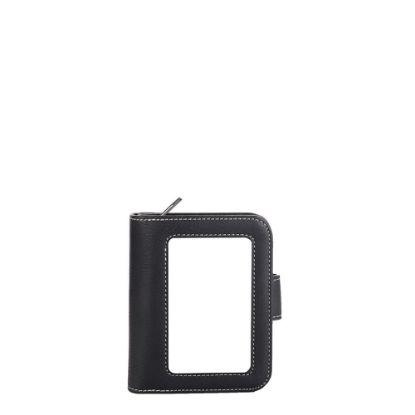 Εικόνα της LEATHER WALLET with aluminum 9x12.5cm