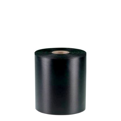 Picture of RIBBON POLYESTER (1side) Black 100x50m