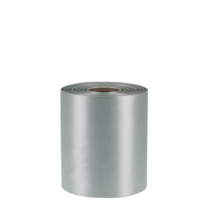 Picture of RIBBON POLYESTER (1side) Silver Dark 100x50m