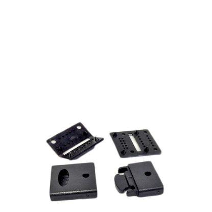 Picture of RIBBON LANYARD - CLIP set (15mm Black) 50pcs