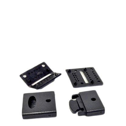 Picture of RIBBON LANYARD  - CLIP set (20mm Black) 50pcs