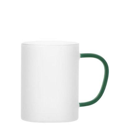 Εικόνα της Glass Mug 12oz (Frosted) GREEN Dark handle