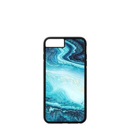Picture of APPLE case (iPHONE 6+, 6s+) TPU BLACK with TEMPERED GLASS