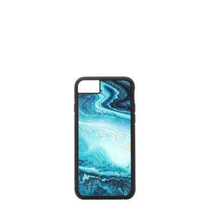 Picture of APPLE case (iPHONE 6, 6s, 7, 8, SE-2020) TPU BLACK with TEMPERED GLASS