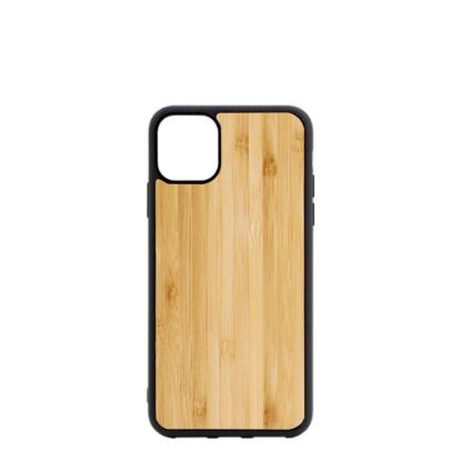 Picture of APPLE case (iPHONE 11 Pro) TPU BLACK with BAMBOO
