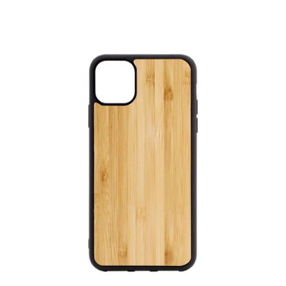 Picture of APPLE case (iPHONE 11 Pro Max) TPU BLACK with BAMBOO