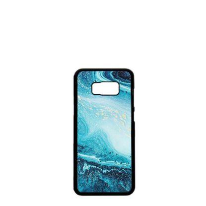 Εικόνα της GALAXY case (S8+) TPU BLACK with TEMPERED GLASS