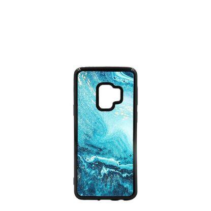 Εικόνα της GALAXY case (S9) TPU BLACK with TEMPERED GLASS