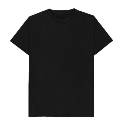 Picture of T-SHIRT cotton - BLACK (4XL) unisex