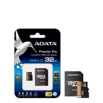 Εικόνα της microSD+SD adapter - ADATA UHS/UI (Class 10) 32GB
