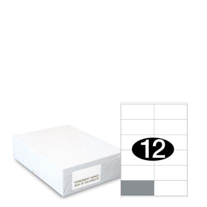Εικόνα της Smart Labels (105x48) 12 labels White/500sh