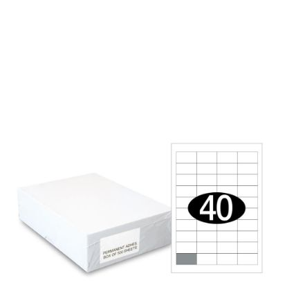 Picture of Smart Labels (48.5x25.4) 40 labels White/500sh