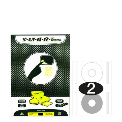 Picture of Smart Labels (CD diam.114) 2 labels White/100sh