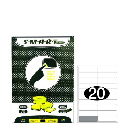 Εικόνα της Smart Labels (98x25.4) 20 labels White/100sh