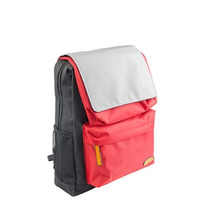 Picture of KIDS SCHOOL BAG - BLACK with RED pocket