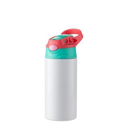 Εικόνα της Kids Bottle (360ml) WHITE Red Cap with Silicone Straw