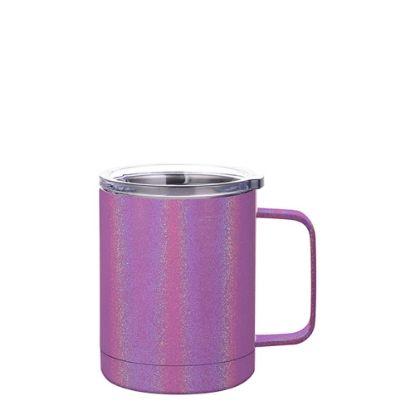 Εικόνα της Stainless Steel Mug 10oz - PURPLE sparkling with Handle