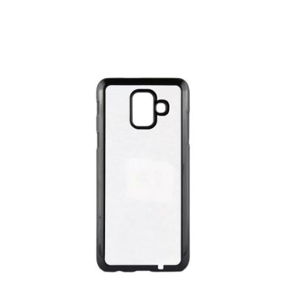 Picture of GALAXY case (A6 2018) TPU BLACK with Alum. Insert