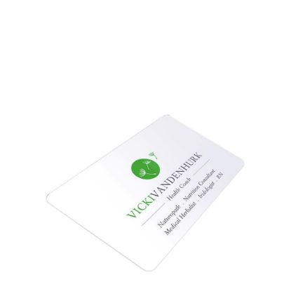 Picture of Business Cards 1sided (Aluminum 0.76mm) White Gloss 8.5x5.4cm